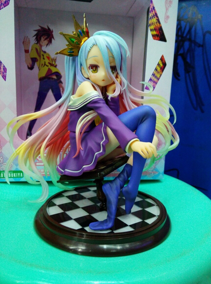 ФОТО Newest 1pcs Anime No game no life white action character pvc figure toy tall 16cm in box hot sell.