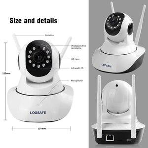 Image 5 - LOOSAFE caméra de Surveillance PTZ IP WIFI HD 2 mp/1080P, dispositif de sécurité sans fil, babyphone vidéo vidéo vidéo sans fil, cadeau P2P