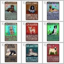 Dog Decor Tin Sign Tin Poster Home Bar