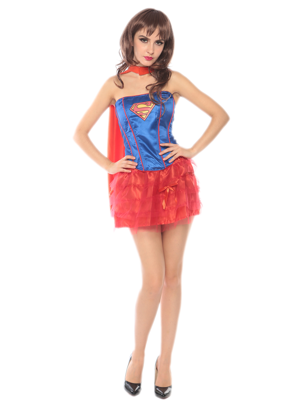 sexy mature women blue and red tutu supergirl costume 3s1725 free shipping adult naughty supergirl costumes - Halloween Naughty Costumes