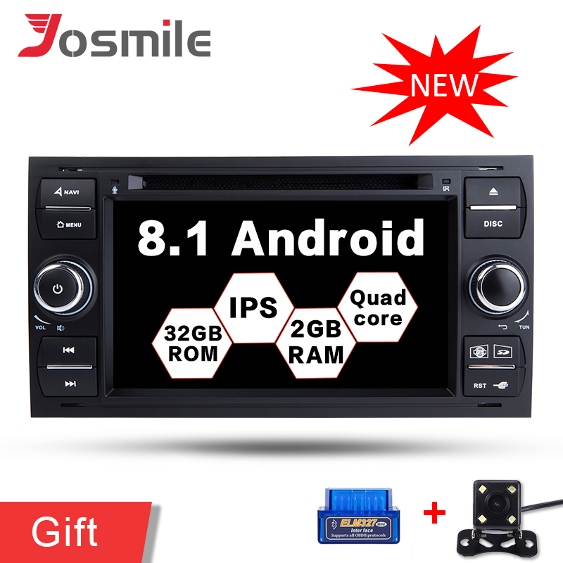 2g RAM Android 8.1 Quad Core Auto Multimedia <font><b>Radio</b></font> DVD-Player Für <font><b>Ford</b></font>/Mondeo/<font><b>Focus</b></font>/Transit/ c-MAX Stereo GPS Navigation FM Wifi image