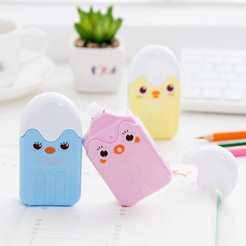 Cute Chick Correction Tape Cartoon Stationery Student Child's Gift Prize School Office Kawaii Masking Tape Supplies Papelaria