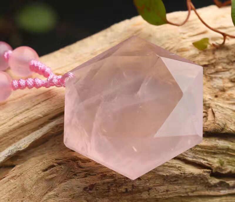 Biżuteria naturalny proszek z łbem sześciokątnym Singel wisiorek Big gwiazda kobiet kamień energetyczny naszyjnik