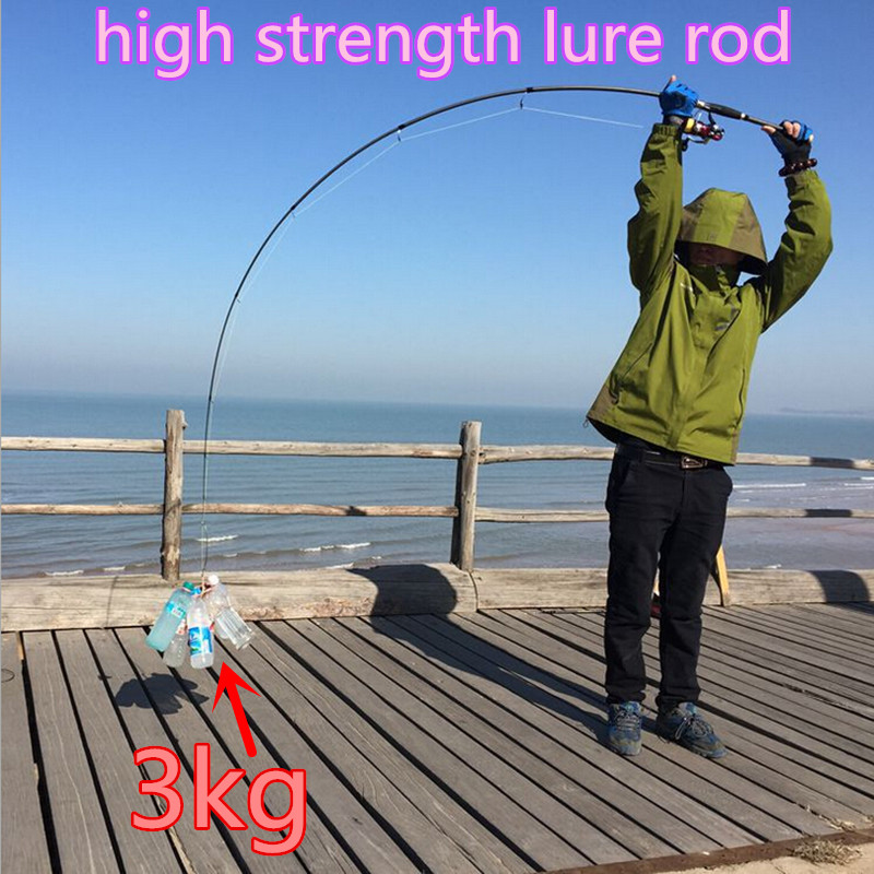 Strong Carbon Baitcasting Fishing Rod Spinning Peche Lure