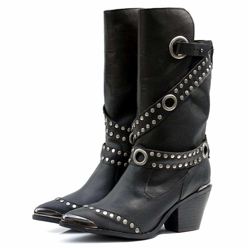 Online Get Cheap Black Cowboy Boots Women -Aliexpress.com ...