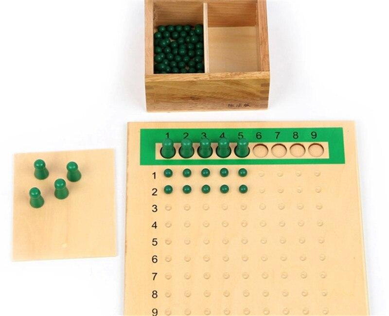 Nouveau bébé jouet Montessori Multiplication perle conseil et Division perle conseil pour l'éducation de la petite enfance préscolaire formation jouet - 4