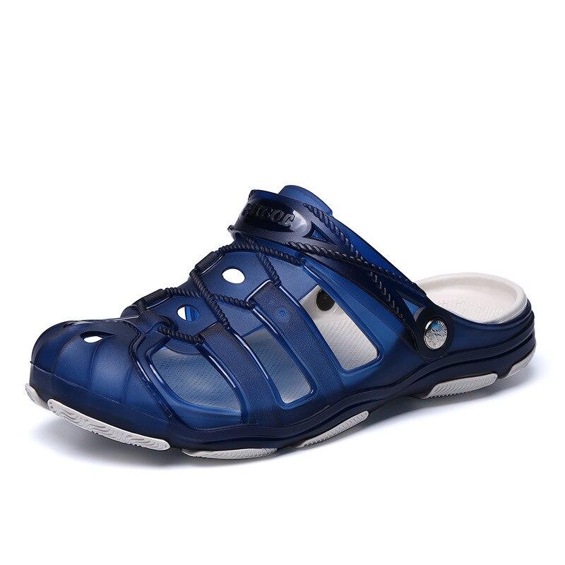 Muhuisen/лето Для мужчин сад сабо тапочки EVA Повседневное модные Нескользящие сандалии для Для мужчин, для мужчин s слегка Тапочки мул сабо больш...