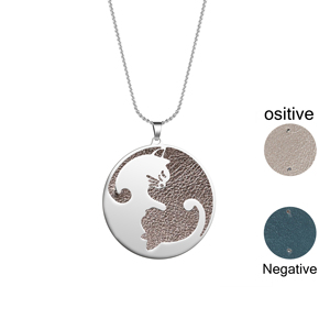 Image 3 - Legenstar 커플 쥬얼리 목걸이 스테인레스 스틸 교환 할 수있는 가죽 동물 고양이 펜던트 목걸이 charm statement collier