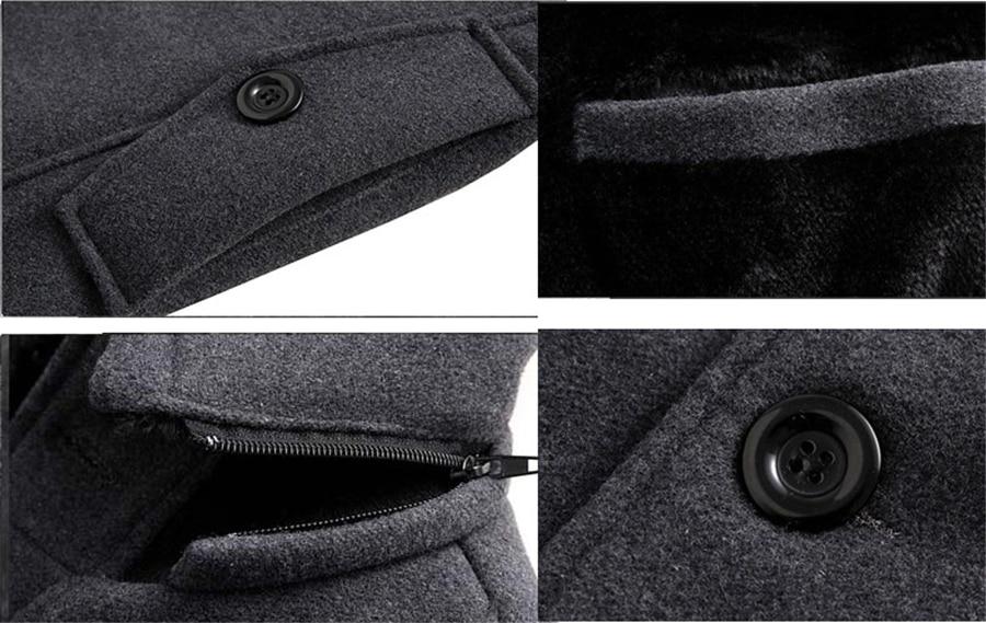 2019 Winter Trench Coat Men Fashion Long Overcoat men Hot Sale Woollen Coat Thick Men's Clothing Size 4XL Wool Jackets 10