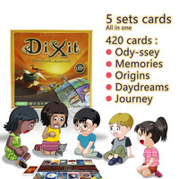 Cards Game Dixit English Board Game Gather 420 Cards Odassey Origins Journey Daydreams Memories Gift Box