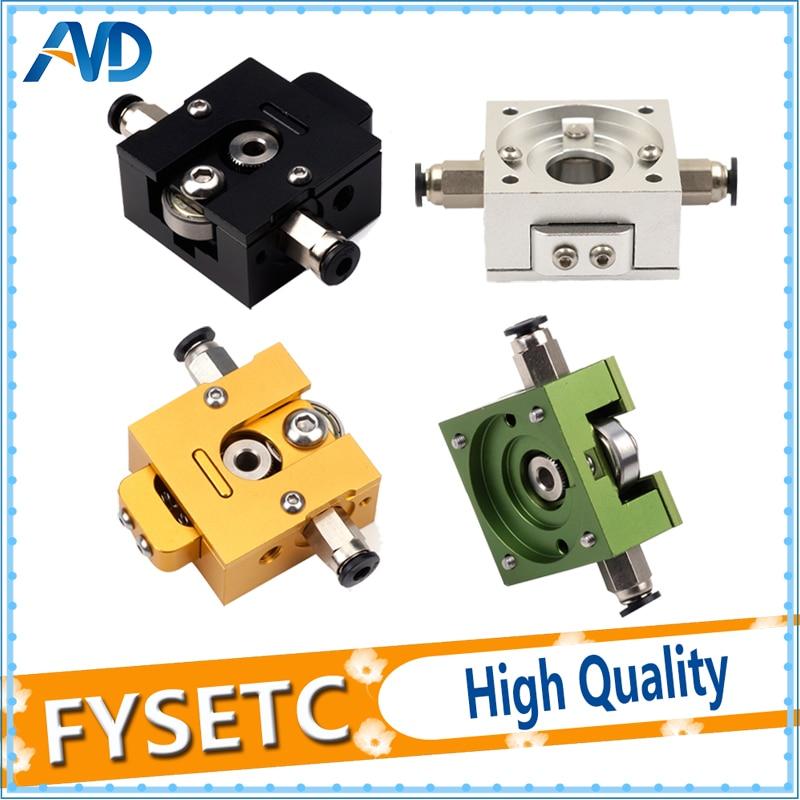1Set DIY Reprap Bulldog All-metal Extruder Black/Gold/Green/Siliver For 1.75mm Compatible J-head MK8 Extruder Remote Proximity robotdigg bulldog extruder