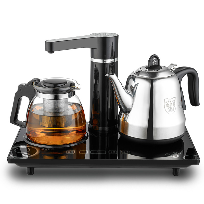 Electric kettle Automatic upper water 304 stainless steel electric boiling tea ware insulated set automatic upper water electric kettle pump 304 stainless steel tea set