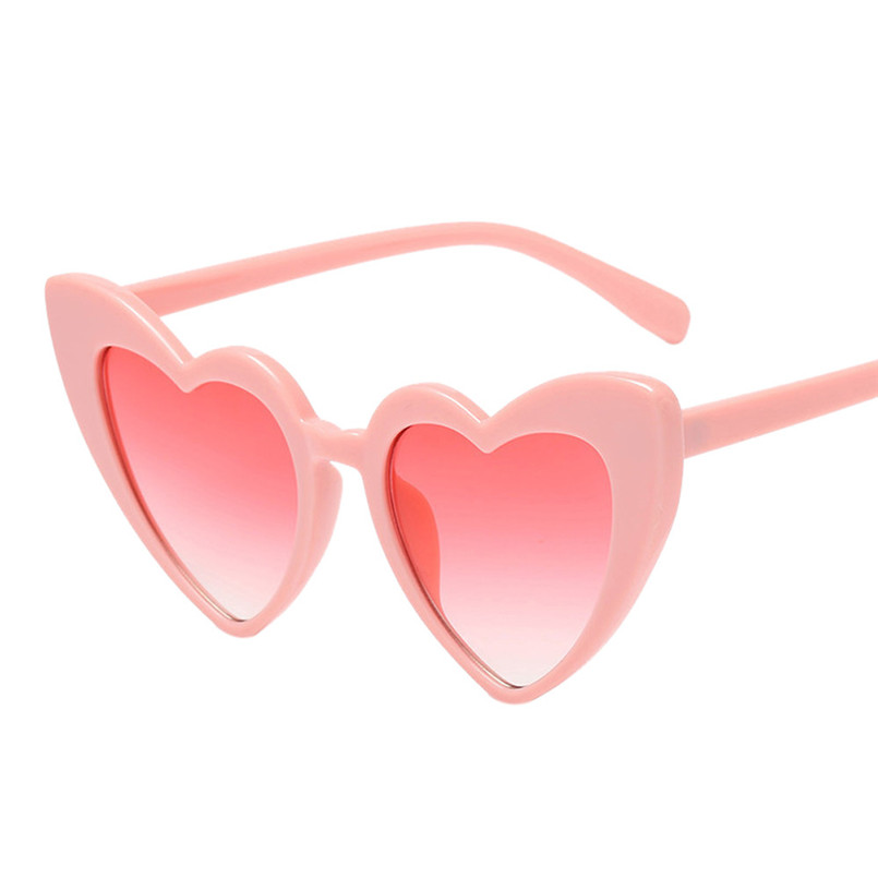 d0144cdf11e Women Retro Heart-shaped Shades Sunglasses Integrated UV Glasses Sport Glasses  Eyewear  2A19