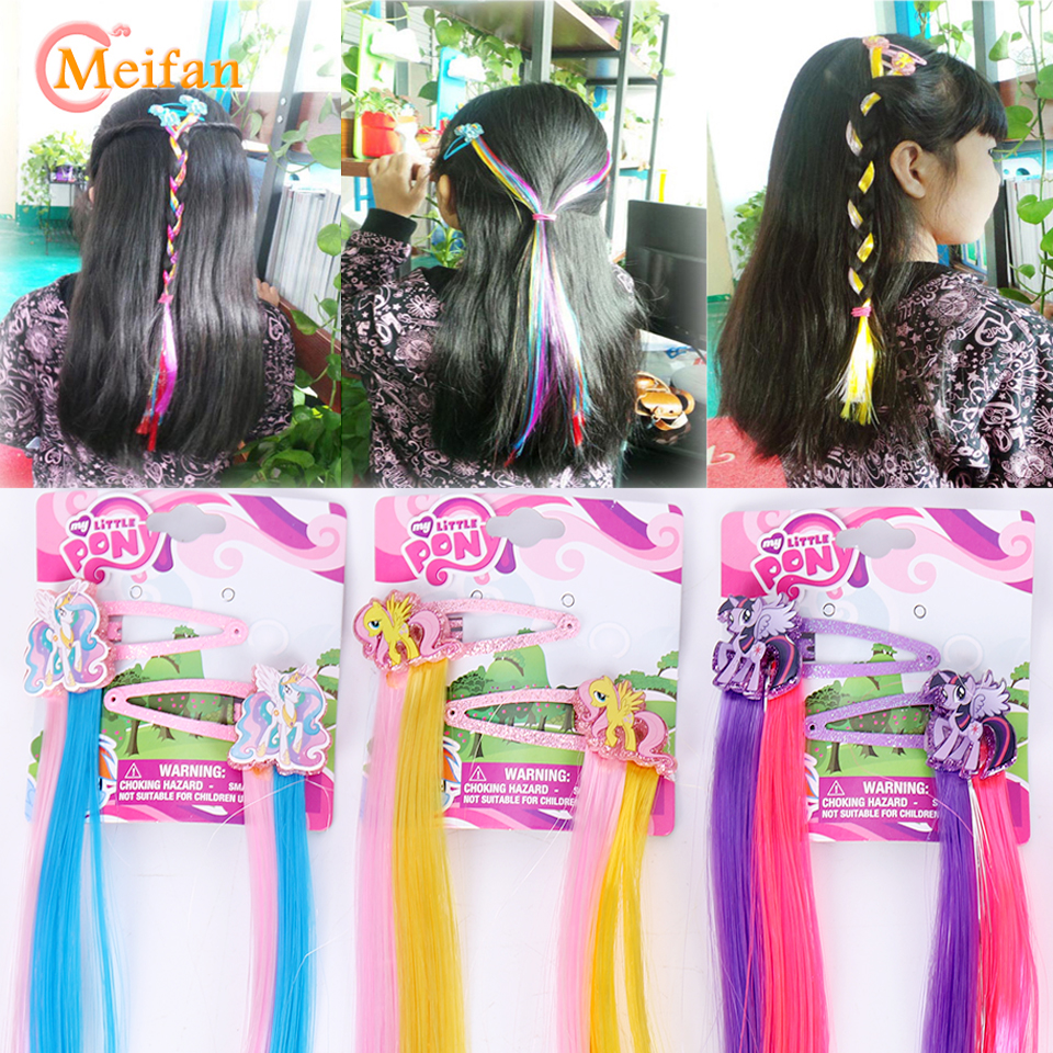 Kids My Little Ponis Braid Hair Clip Cosplay Costumes Princess Braid Hairpin Barrette Cosplay Hair Accessories   Headwear   MEIFAN