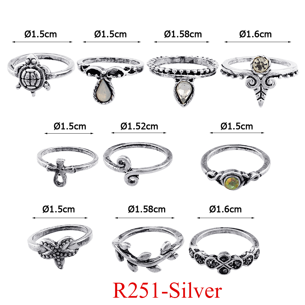 HTB1aEmIQVXXXXXJXFXXq6xXFXXXB 11-Pieces Boho Chic Spirituality Silver Plated Antique Stackable Ring Set - 9 Sets