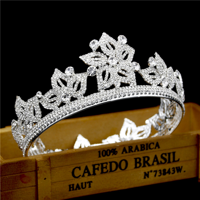 Queen King Tiaras and Crowns Wedding Hair Accessories Bridal Wedding Crown Tiara for Bride Hair Ornaments Head Jewelry 00009 red gold bride wedding hair tiaras ancient chinese empress hair piece