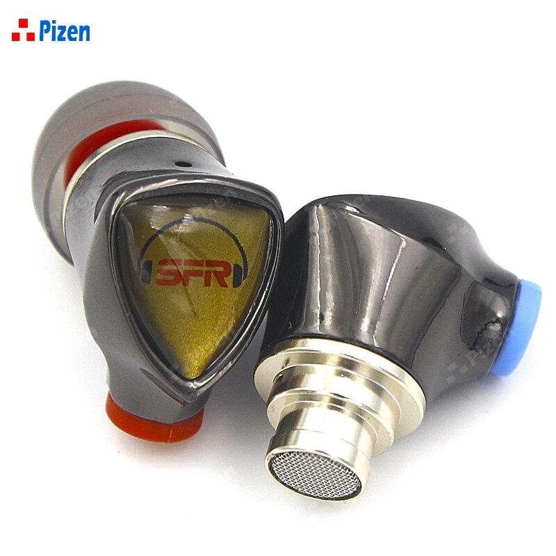 PIZEN SENFER 4in1 Pro Ceramic Earbud In Ear Earphone 1DD+2BA Hybrid Drive HIFI Headset MMCX silver cable wired earpods vs DT6 цена