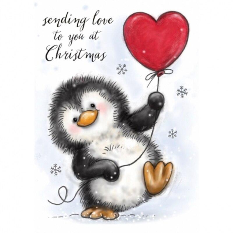 5 Troquelado Dulce Pingüinos Navidad Tarjeta Haciendo Álbum de Recortes Artesanía Adornos