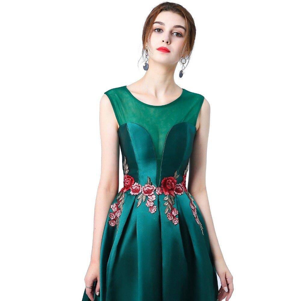 Suosikki nieuwe prom dress lange vestidos de festa a-lijn bloem cap - Jurken voor bijzondere gelegenheden - Foto 2
