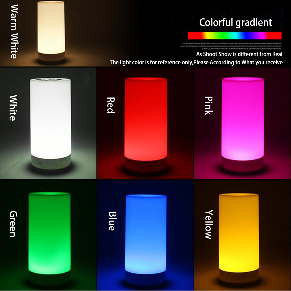 Free Print Customized Logo Round Bar Led Night Light Rechargeable Black Color Table Lamp For Decoration In Lights From