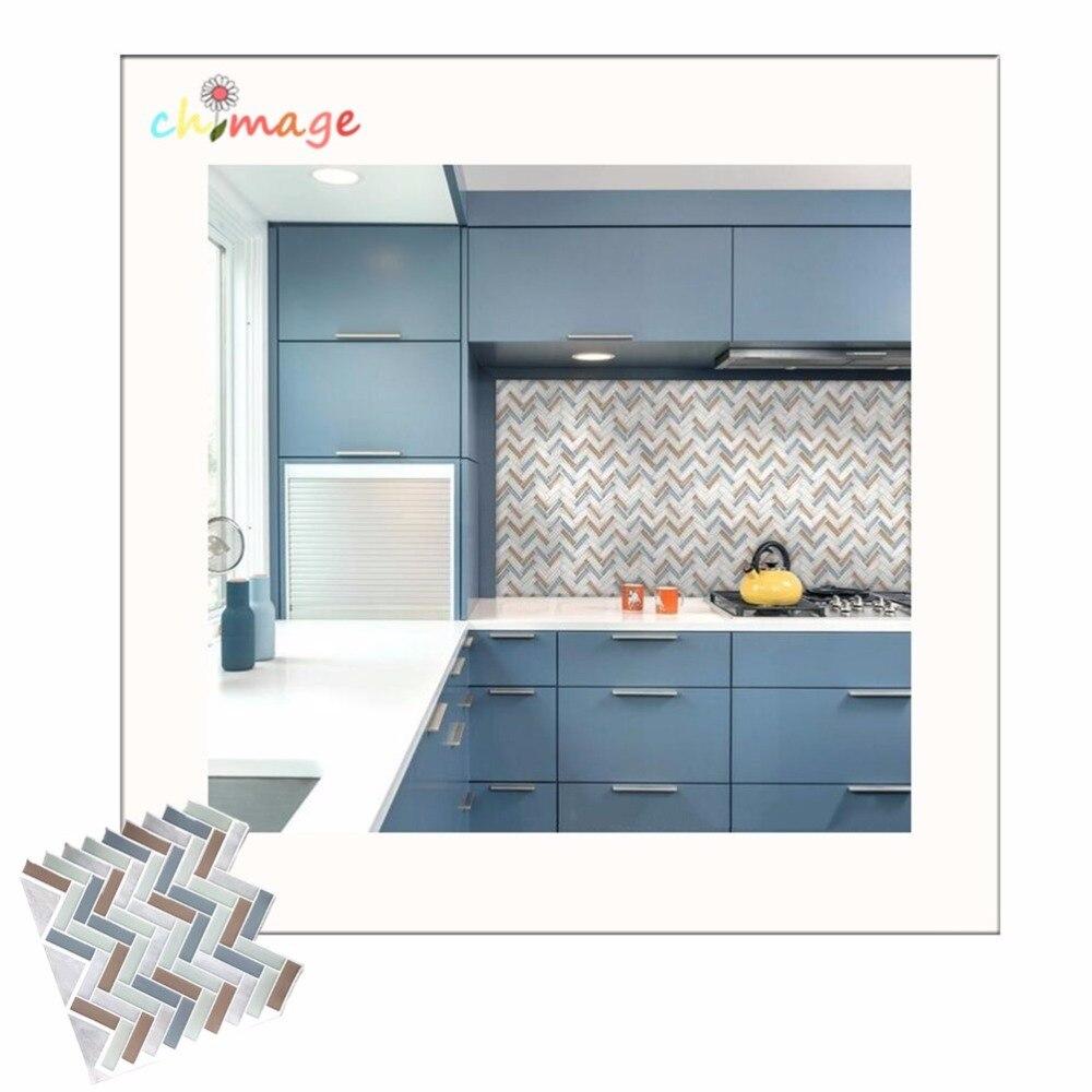 Self Adhesive Mosaic Tile Wall Sticker DIY Kitchen Bathroom Backsplash Home  Decor Vinyl Q(China