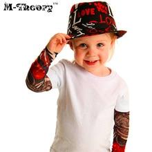 ФОТО m-theory 1pcs kid size tattoos sleeve arm stockings leggings henna 3d temporary biker rocker body arts makeup tools