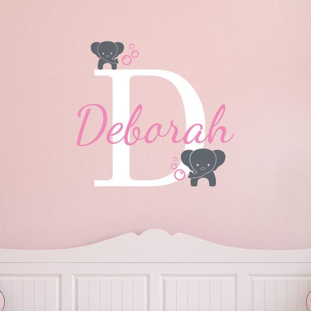 Elephant Bubble Wall Decal Personalized Custom Name Decor Vinyl - Personalized custom vinyl wall decals for nurserypersonalized wall decals for kids rooms wall art personalized