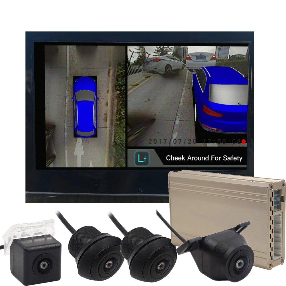 2019 Panoramique HD 1080 P 3D Surround Vue DVR Système Enregistreur Vidéo avec 4 Caméras et 25 Modèle De Voiture 5 couleurs En Option