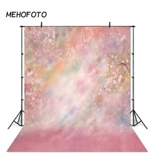 Фон для фотосъемки новорожденных MEHOFOTO розовый цветочный фон для фотосъемки реквизит для фотостудии
