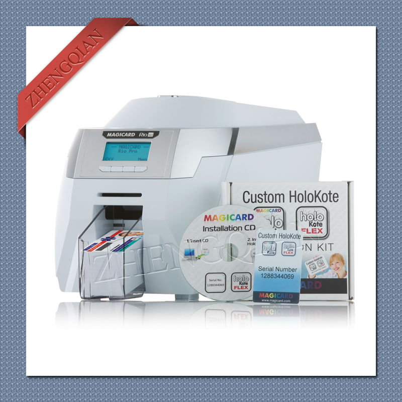 Magicard Rio Pro single sided id pvc card printer with two MA300 YMCKO ribbon