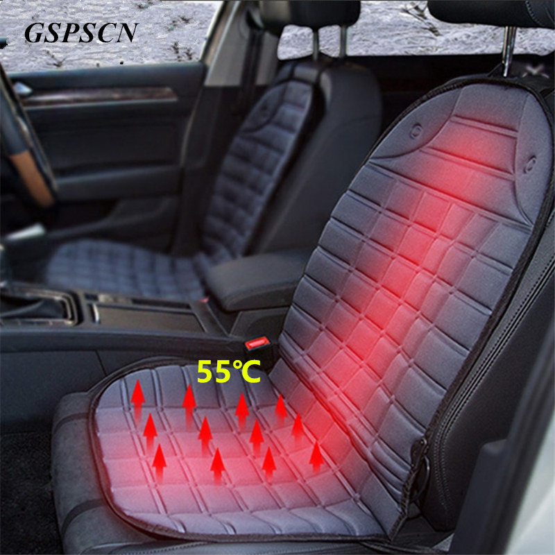 gspscn universal 12v winter seat covers car intelligent electric heated car seat cushion auto. Black Bedroom Furniture Sets. Home Design Ideas