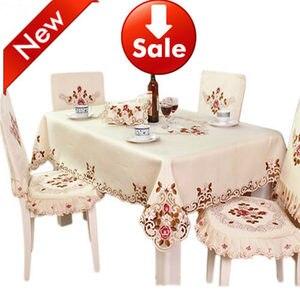 Европейская садовая скатерть TY220, элегантная скатерть для стола стула с вышивкой, чехол для свадебного украшения, домашняя текстильная поду...