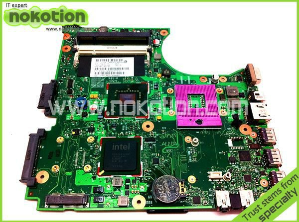 NOKOTION 538409-001 LAPTOP MOTHERBOARD for HP Compaq 510 610 Series Intel Motherboard DDR2 416903 001 laptop motherboard for hp compaq nx8220 nc8230 series intel 915pm with graphics card ati 9800 ddr2 free shipping