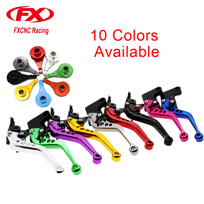 FX CNC Motorcycle Adjustable Short Brake Clutch Levers For Yamaha DT 125 1995 YBR125 YBR250 FAZER XTZ750 Super Tenere