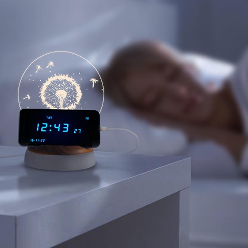 3D noc światła oczyszczacz powietrza Aromaterapia USB Ładowania telefonu komórkowego stojak Prezent Zdrowia chronić oczy