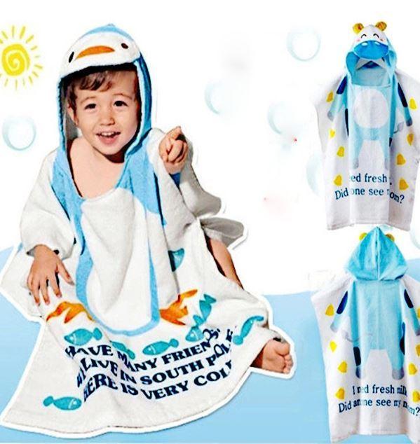 2016 100% algodão vestido de praia do bebê manto bebê cape bebê dos miúdos das crianças roupão de banho toalhas de praia toalha de banho criança roupões de banho com capuz