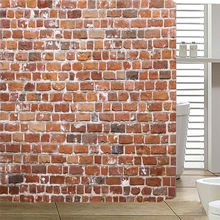 Bath Curtains Waterproof Beach Shells Red Brick Bathroom Shower Curtain 180180cm Drop Shipping AP20