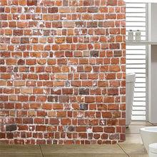 Cortinas de baño impermeables de ladrillo rojo, cortina de ducha, 180x180cm, AP20