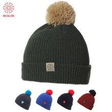 SK Unisex Famous Man Women Warm Winter Knitting Ski Hat Beanies Turtleneck  Cap d73561a8e454