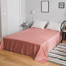 2018 Solid Brief Style Flat Sheet(Without Elastic Band) Bed Mattress Protective Cover Soft Cotton Bedlinens Sheet