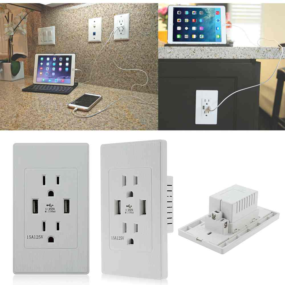Electrical Wall Outlets : High quality speed usb wall socket us plug dual