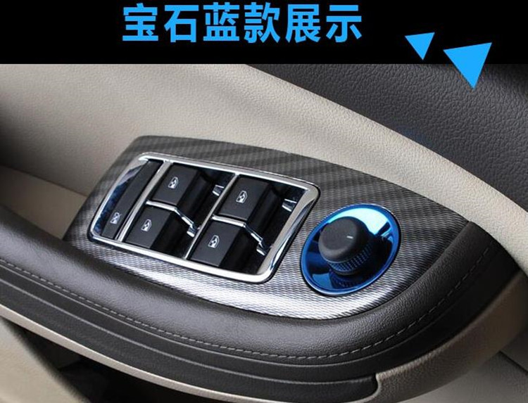 Hot Sell Rearview Mirror Switch Knob Decoration Sequins Car styling For Opel Mokka Chevrolet Cruze Malibu Buick Excelle
