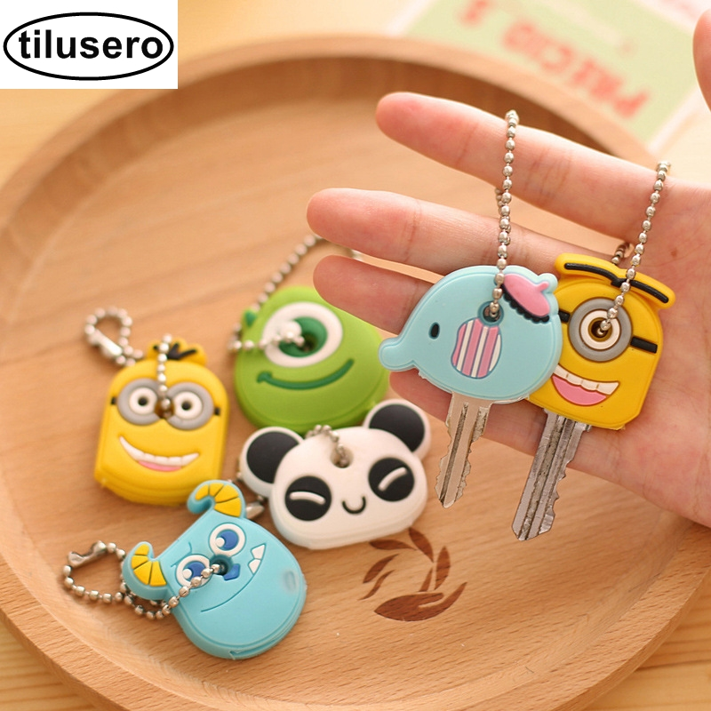 Cartoon Key Wallet Silicone Key Holder Case Cute Key Protective Wallet Hook F016Cartoon Key Wallet Silicone Key Holder Case Cute Key Protective Wallet Hook F016