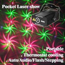 цены на Mini Pocket Sound Active 4 Pattern Green Red RG Whirlwind Laser Stage lighting Projector DJ Show Wedding Dance Bar Party Light  в интернет-магазинах