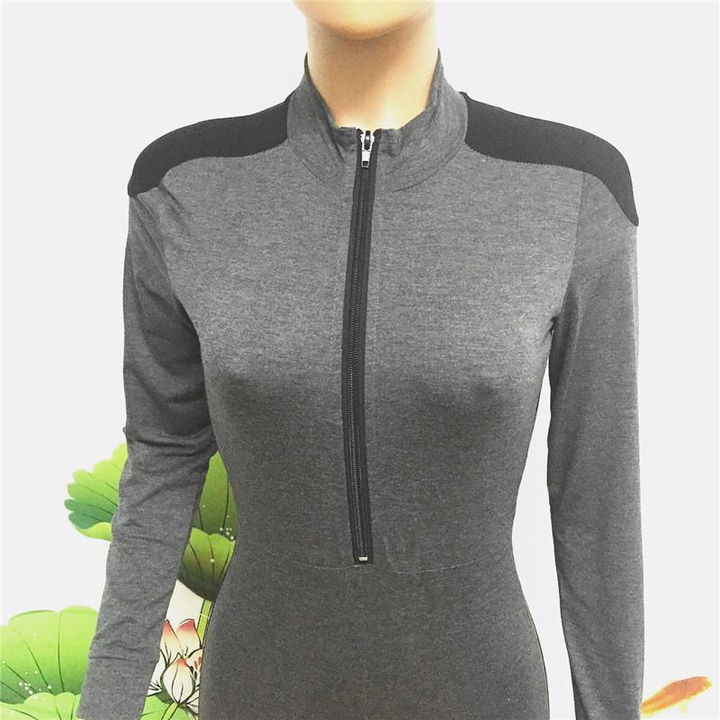 long sleeve full length zipper open close one piece jumpsuit sportswear bodysuit catsuit fitsuit activesuits tracksuit women's plus size sportsuits (7)