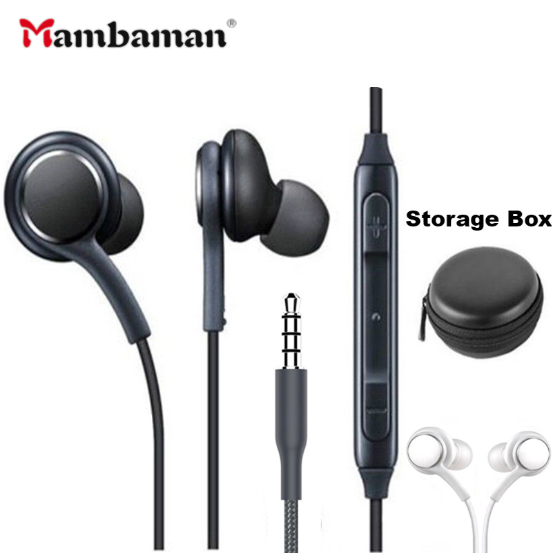 S8 IG955 Earphones 3.5mm In-ear Wired Mic Volume Control Headset For Huawei Xiaomi Samsung Galaxy S10 S9 S3 S7 S6 S5 Smartphone