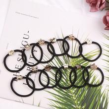 10PCS Nylon Elastic Hair Gum Rubber Bands Black Band Scrunchy Ponytail Ties For Women Accessories