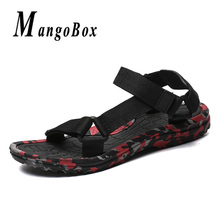 Mens Hot Summer Sandals Youth Slipper Resistant Men Shoes Big Size 46 47 sandalias hombre rojas Camo Beach Sandals For Men цена 2017