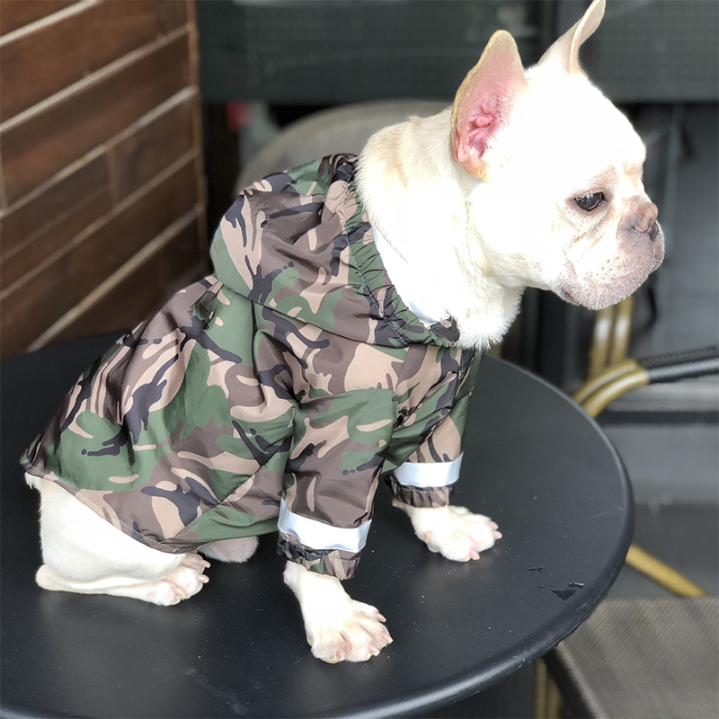 Waterproof Raincoat Pet Dog Clothes For Small Dogs French Bulldog Pug Costume Yorkie Hoodies Reflective Tape Dropshipping PC0889