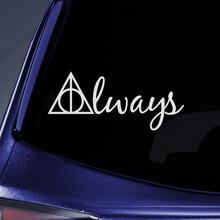 Bargain Max Decals - Always Deathly Hallows HP Sticker Decal Notebook Car Laptop 8 (White)